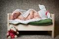 Picture sleep, baby, blanket, cot, elephant, cap, child, toy