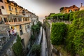 Picture road, Sorrento, the bushes, home, Italy, greens, sea