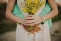 Picture flowers, bouquet, yellow, hands, ring