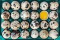 Picture eggs, macro, 24 PCs
