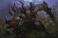 Picture art, undying, army, horns, darkness, the demon, dota 2