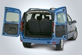 Picture the trunk, blue, wide open, Lada Largus