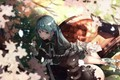 Picture anime, art, girl, song