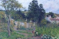 Picture nature, landscape, The vegetable garden at the Hermitage. PONTOISE, Camille Pissarro, picture
