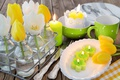 Picture spring, decoration, Easter, pastel, Easter, tulips, tulips, happy, delicate, candles, flowers, spring, eggs, flowers