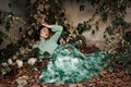Picture autumn, girl, mood, foliage, leaves, ivy, Isabella Phillips, pose