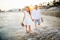 Picture pair, sea, beach, love, stay, a pair of lovers, water splashes, Cyprus, the sun, love, ...