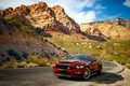 Picture Ford, Mustang, rocks, the sky, Super Snake, road, mountains, Shelby