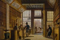 Picture Johannes Jelgerhuis, Shop of a Bookseller in Amsterdam, interior, picture