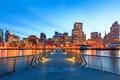 Picture USA, promenade, the evening, lights, Bay, home, San Francisco, bridge