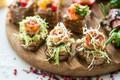 Picture food, bread, sandwiches, appetizer, canapés