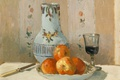 Picture glass, Camille Pissarro, Still life with Apples and Pitcher, knife, picture