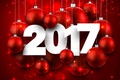 Picture new year, happy, decoration, balls, holiday celebration, 2017, New Year
