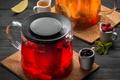 Picture mint, berry, currants, honey, tea, raspberry