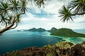 Picture sea, the sky, clouds, trees, tropics, rocks, island, panorama, the view from the top, Malaysia, ...