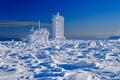 Picture winter, snow, mountain, Germany, peak, Harz, Saxony-Anhalt, Brocken, weather station