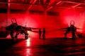 Picture red, Jaguar, lighting, hangar, pilots, fighter-bomber, SEPECAT