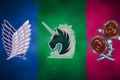 Picture wallpaper, logo, game, anime, wings, asian, roses, manga, unicorn, japanese, oriental, asiatic, Attack on Titan, ...