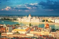 Picture Budapest, the Parliament building, Budapest, view, travel, bokeh, wallpaper., blur, the Danube river, panoramic view, ...