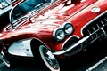 Picture red, Corvette, convertible, 1959 Chevrolet Corvette C1