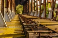 Picture sleepers, tree, railway bridge