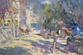 Picture street, home, picture, impressionism, the urban landscape, Konstantin Korovin, View Of The South Of France