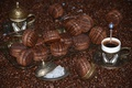 Picture coffee, chocolate, Cup, macaroon