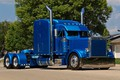 Picture Blue, Street, Truck, Peterbilt