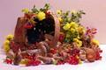 Picture flowers, berries, September, Kalina, summer, mushrooms