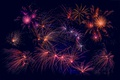 Picture salute, fireworks, New year, fireworks, night, light, lights