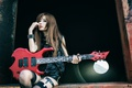 Picture music, girl, guitar