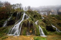 Picture Waterfall Tuffs, rocks, trees, waterfall, France, forest, fog