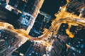 Picture road, light, night, the city, lights, home, China, down, the view from the top