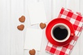 Picture coffee, romantic, heart, love, valentine`s day, cookies