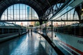 Picture the platform, French station, Spain, Barcelona, train