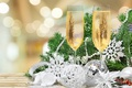 Picture tree, New Year, glasses, Christmas, new year, happy, decoration, champagne