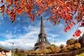 Picture autumn, France, Paris, Paris, river, France, autumn, leaves, Eiffel Tower, cityscape