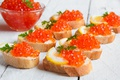 Picture seafood, seafoods, caviar, bread, delicious, caviar, sandwiches, lemon