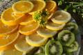 Picture grass, lemon, orange, kiwi, citrus, April, spring 2018, meduzanol ©