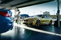 Picture bmw, yellow, blue, track
