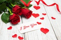 Picture red roses, buds, valentine`s day, love, roses, romantic, roses, red, heart, i love you, flowers