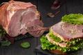 Picture meat, sandwich, salad, ham
