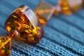 Picture amber beads, amber, beads, macro