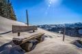 Picture the sun, Ellmau, Austria, Tyrol, Weissach dig, bench, mountains, snow