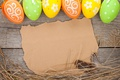 Picture spring, colorful, wood, Easter, eggs, Easter, happy, holiday, spring, eggs