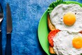 Picture tomato, greens, knife, scrambled eggs, plug