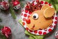 Picture decoration, tree, New Year, Christmas, bells, Christmas, pancakes, Merry Christmas, Xmas, bacon, pancakes, decoration, serving, ...
