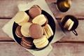Picture coffee cup, macaroon, cookies, cream, macaron, almond, coffee, cookies, dessert, cakes