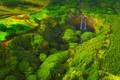 Picture waterfall, trees, Hawaii, USA