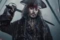Picture fog, Johnny Depp, guns, hat, fantasy, sparks, captain, Johnny Depp, ropes, Jack Sparrow, Pirates of ...